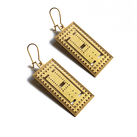 Parthenon 18k gold-plated Earrings