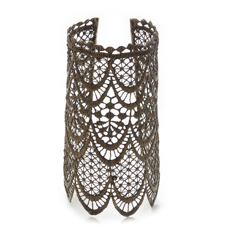 LACE ARROW SILVER-PLATED CUFF - LARGE