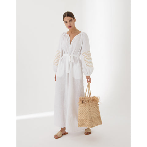 Psatha I Linen Resort Dress