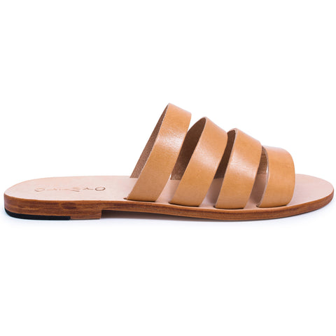 Iris Leather Slides