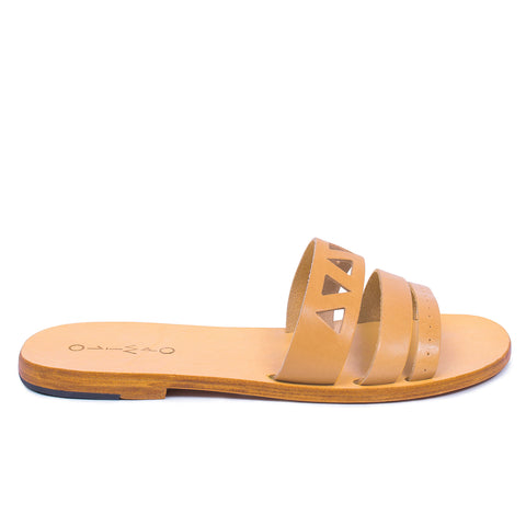 ZOE LEATHER SLIDES