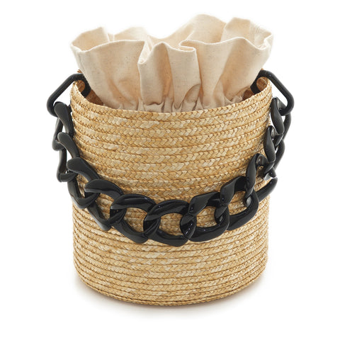 Zenais Raffia bag  Black