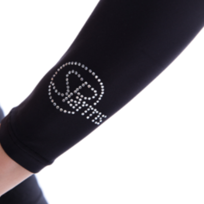SP Body - Women's High Neck Crystal Logo [Black]