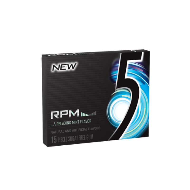 5 Gum RPM Mint 10 X 15 Sticks