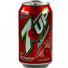 7 Up Cherry 355ml X 12 Cans