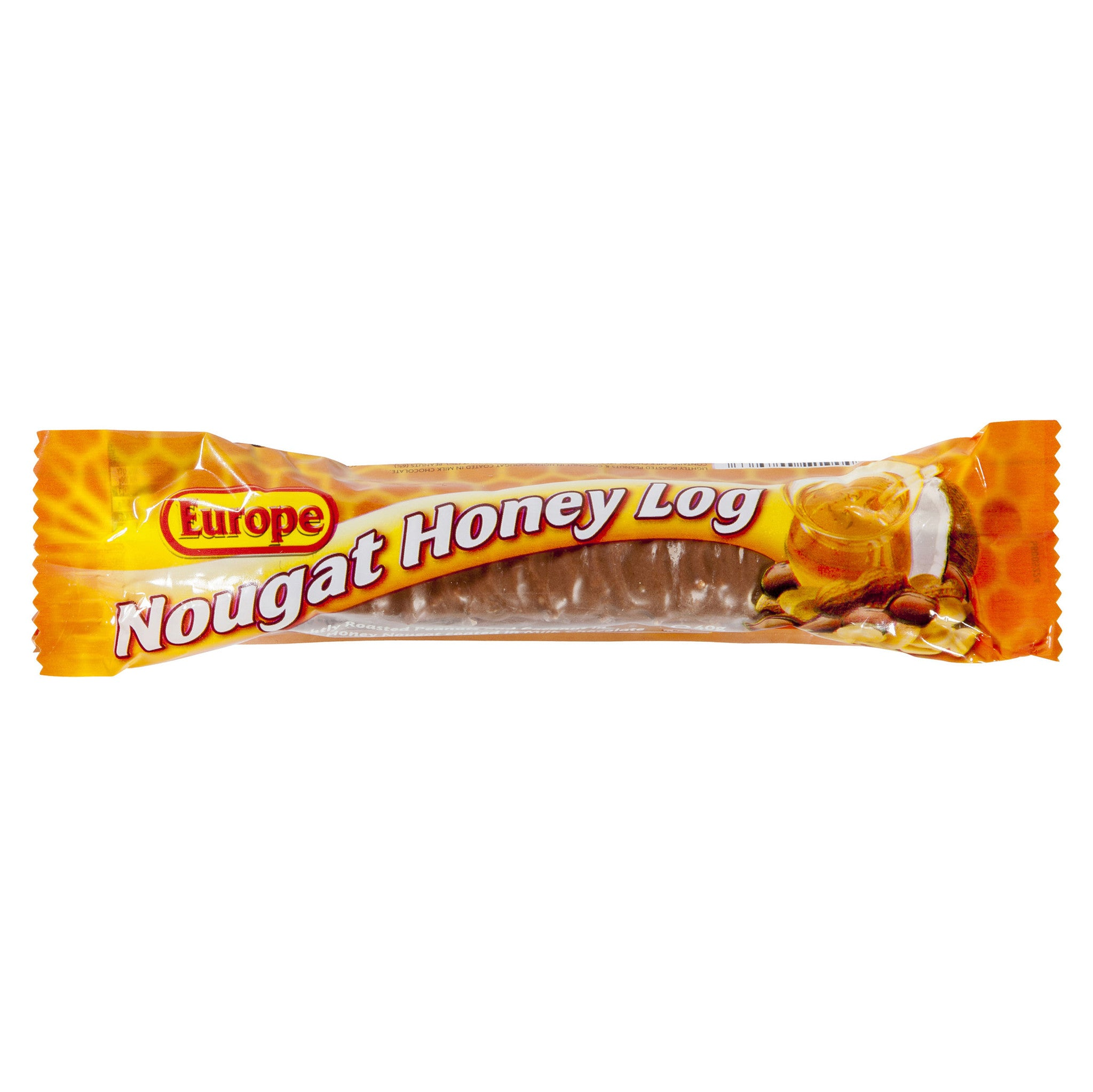 Cadbury Europe Nougat Honey Log 40g X 35 Bars - Remas