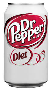 Dr Pepper Diet 355ml X 12 Cans