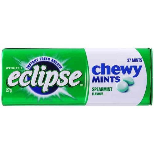 Eclipse Chewy Spearmint Mints 27g X 20 Units