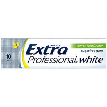 Extra White Lemon Lime Gum 14g X 24 Units