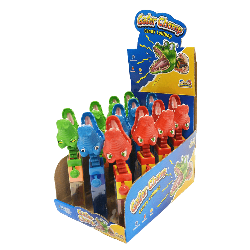 TOY Gator Chomp Candy lollipop 17g X 12 Units