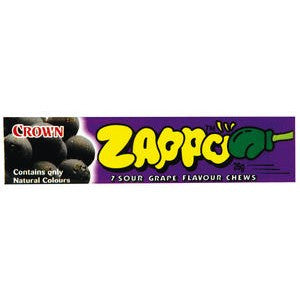 Zappo 7 Sour Grape Chews 26g X 60 Units