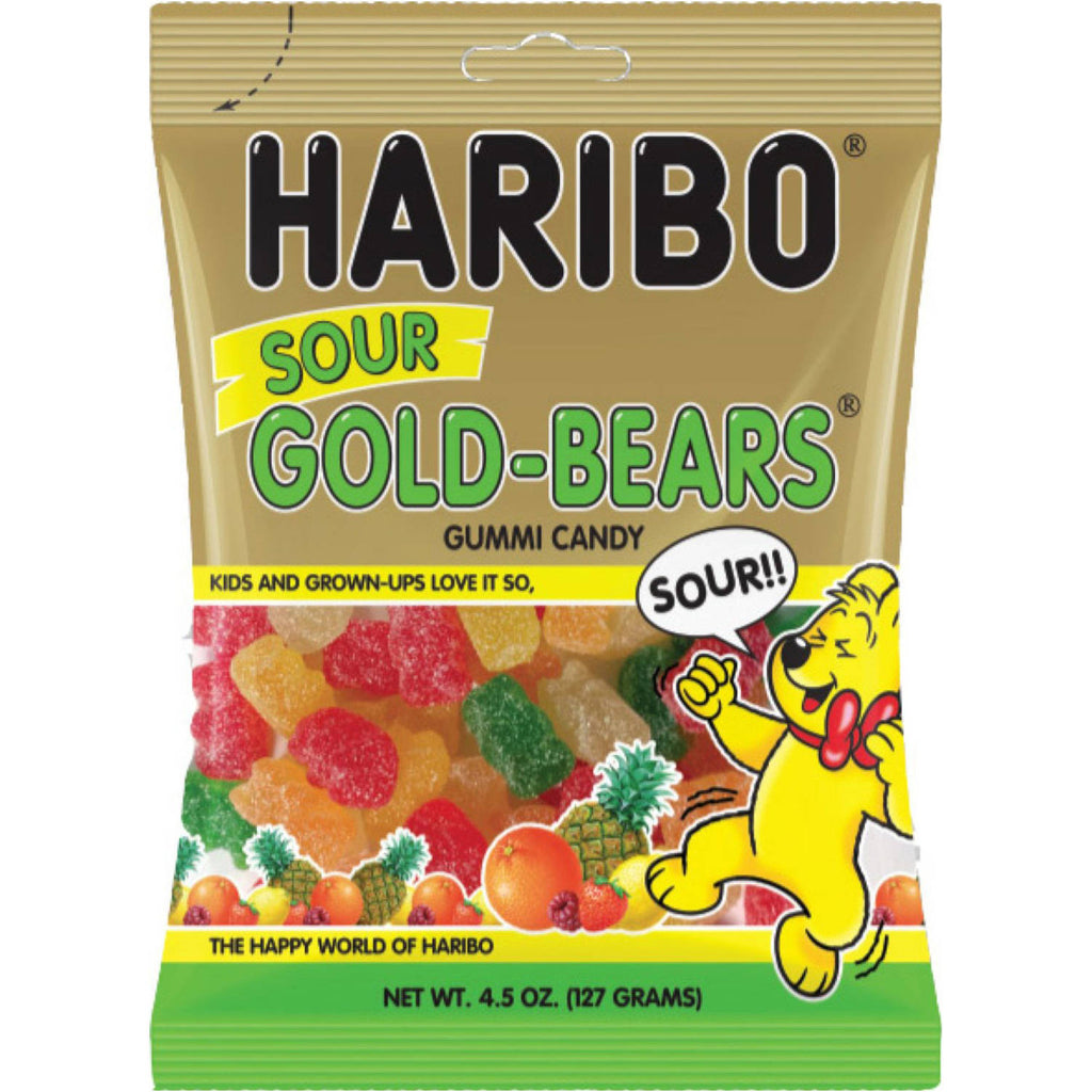 Haribo Sour Gold Bears 142g x 12 Bags