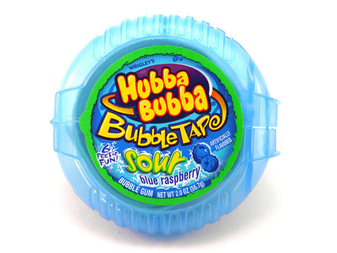 Hubba Bubba Tape Sour Blue Raspberry 56.7g x 12 Units