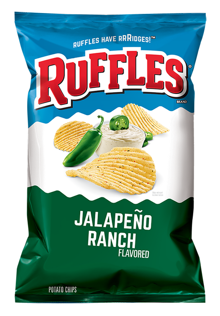 US CHIPS Ruffles Jalapeno Ranch 184g X 15 Bags