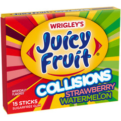 U.S Gum Juicy Fruit Collisions Strawberry and Watermelon 10 x 15 Sticks