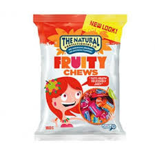 Cadbury The Natural Chews Fruity Mix 180g X 12 Bags