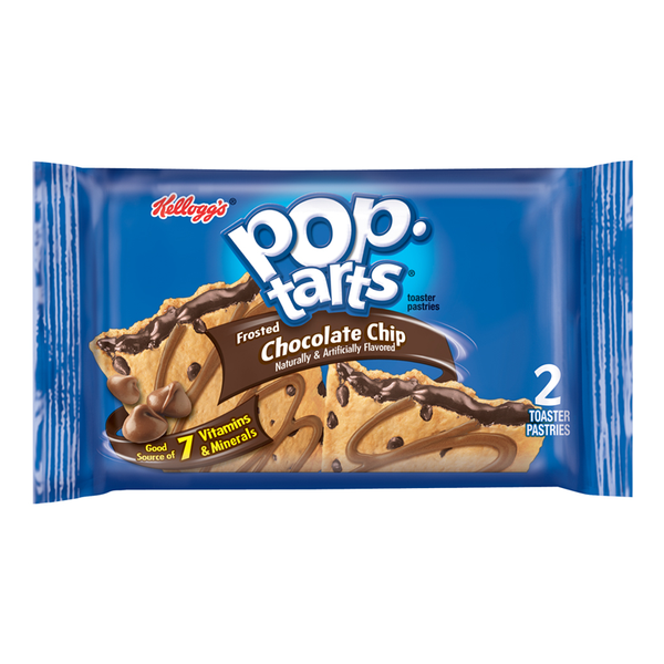 Pop Tarts 2pk Chocolate Chip 96g X 6 ( 2 packs )