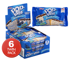 Pop Tarts 2pk Frosted Blueberry 96g X 6 (2 packs )