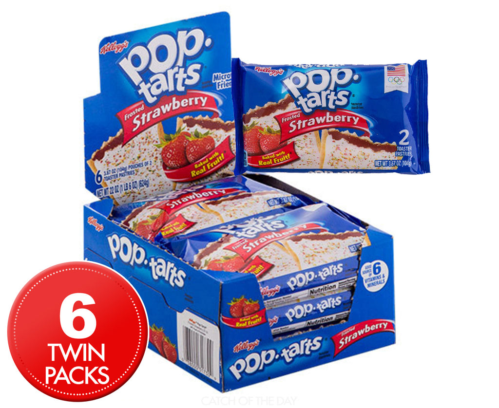 Pop Tarts 2pk Frosted Strawberry 96g X 6 (2 packs )