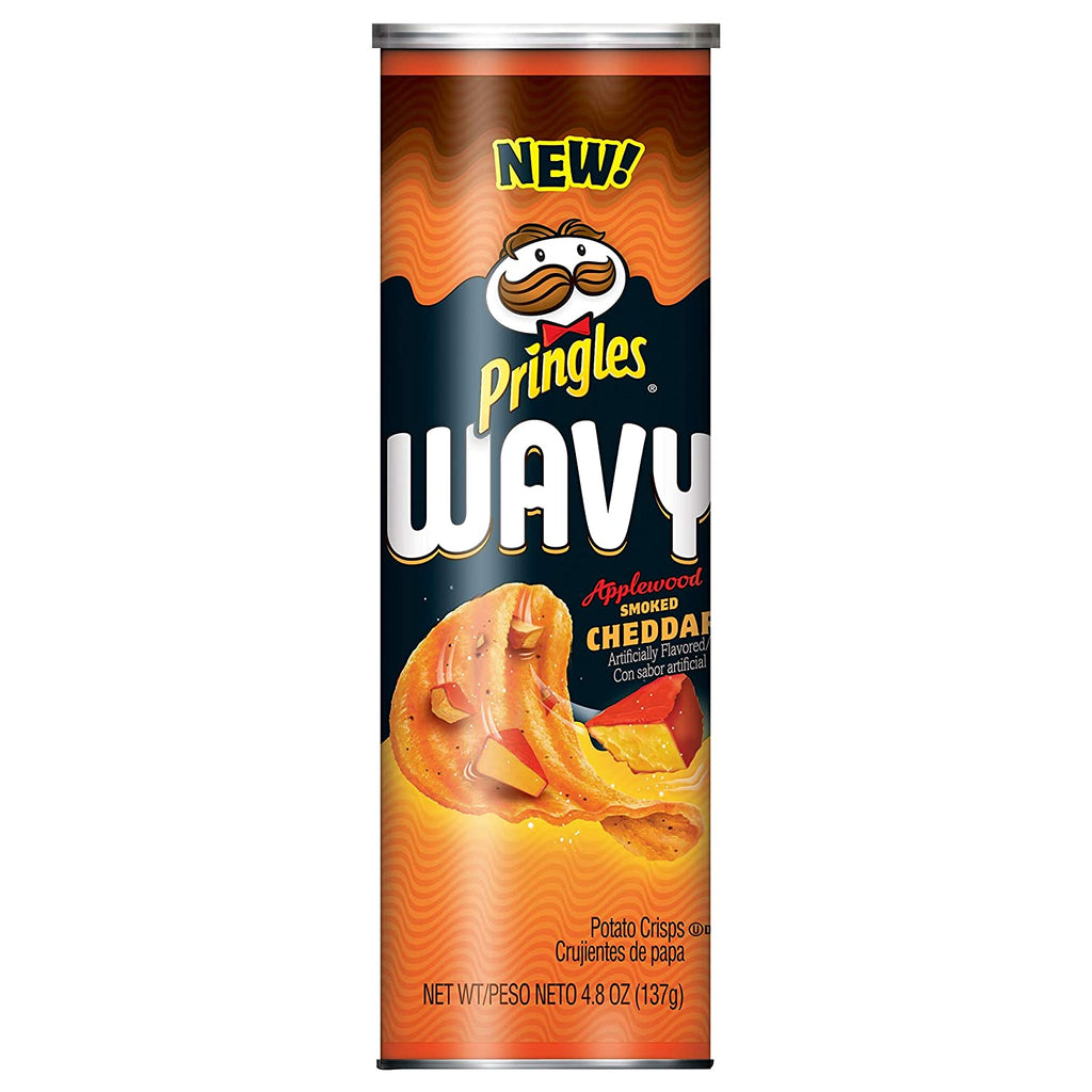 Pringles Wavy Applewood Smoked Cheddar 158g x 8 cans