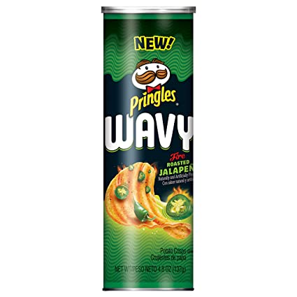Pringles Wavy Fire Roasted Jalapeno 158g x 8 Cans