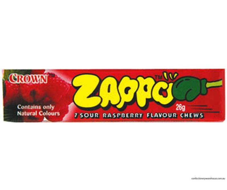 Zappo 7 Sour Raspberry Chews 26g X 60 Units
