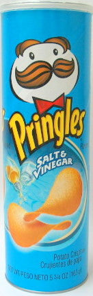 Pringles Salt & Vinegar Chips 169g X 14 Units - Remas