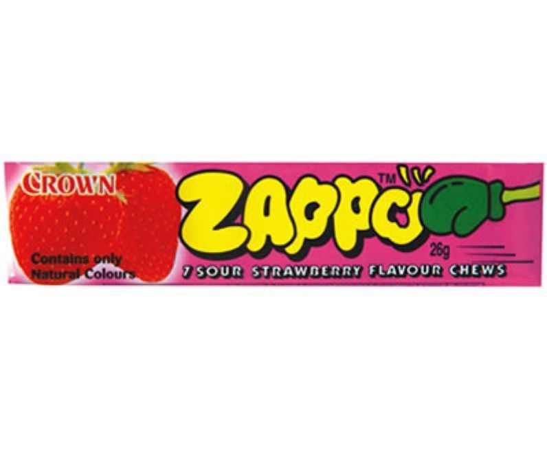 Zappo 7 Sour Strawberry Chews 26g X 60 Units