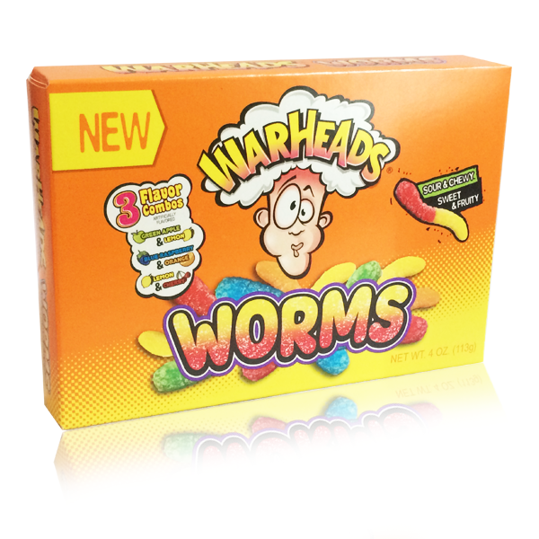 Theatre Box Warheads Worms Chewy Candy