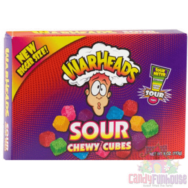 Theatre Box Warheads Sour Chewy Cubes