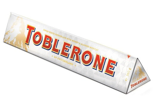 Toblerone White Chocolate 360g X 10 Units