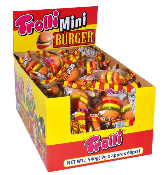 Trolli Mini Gummi Burgers 9g X 60 Units
