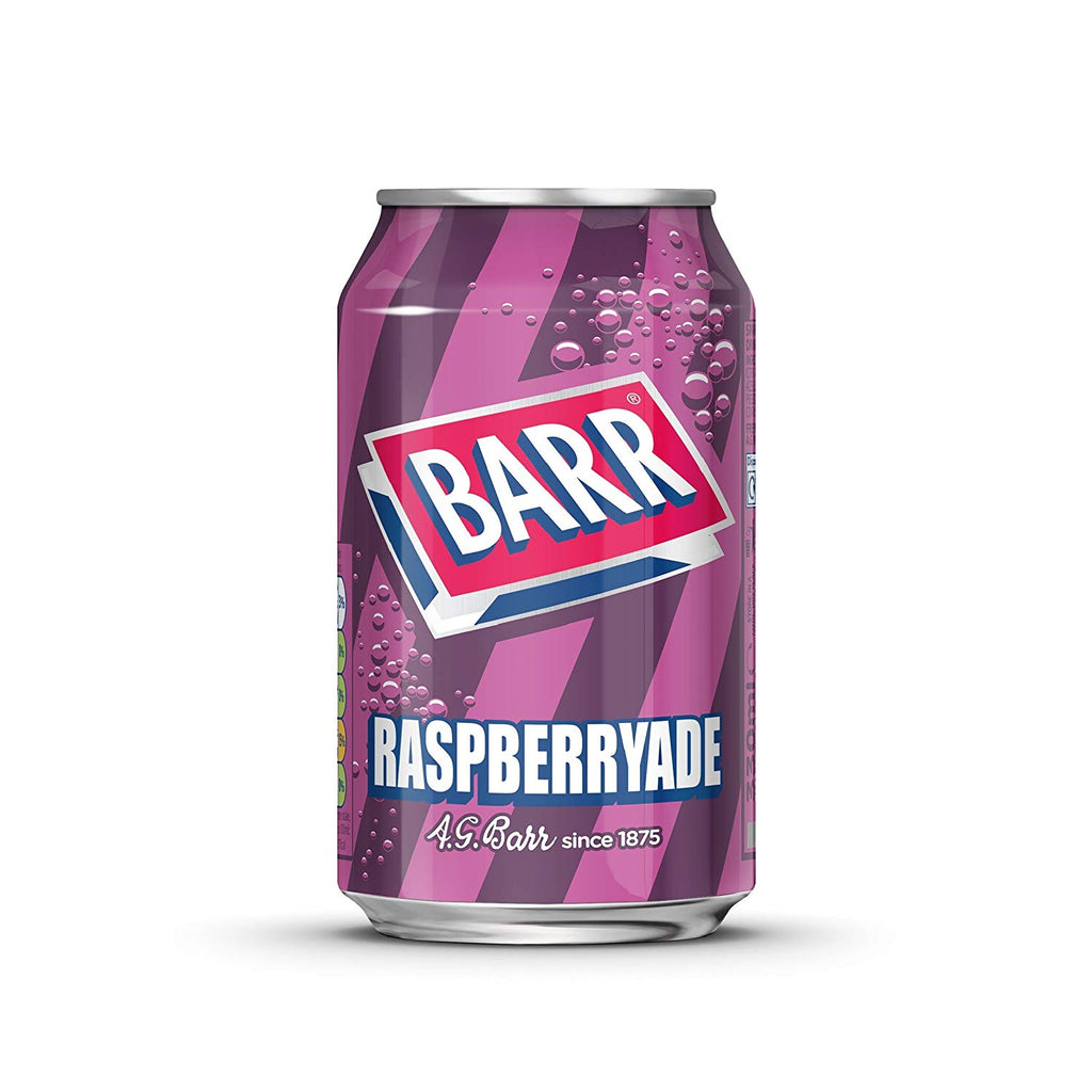 UK Barrs Raspberryade   330ml X 24 Cans