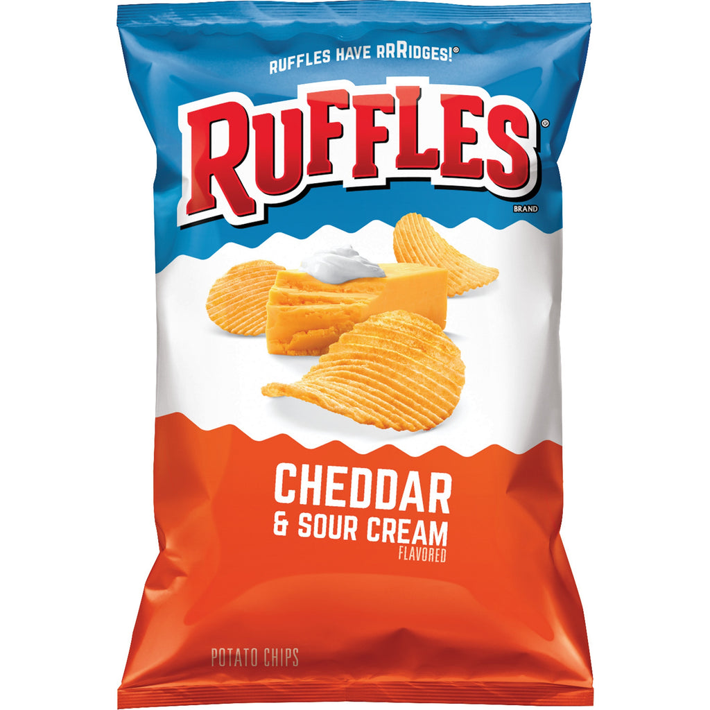 US CHIPS Ruffles Cheddar & Sour Cream 184g X 15 Bags Cheetos