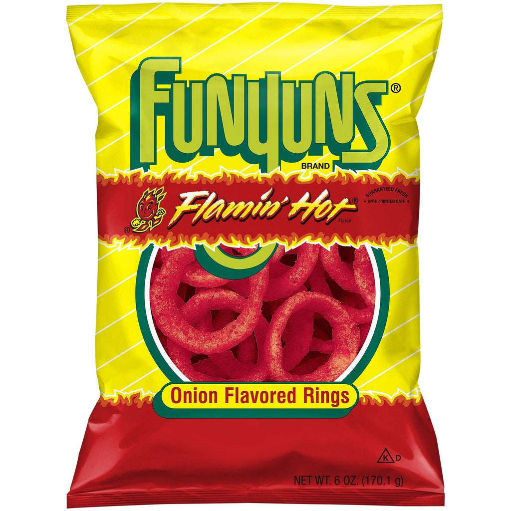 US CHIPS Funyuns Flamin Hot 164g X 8 Bags Cheetos