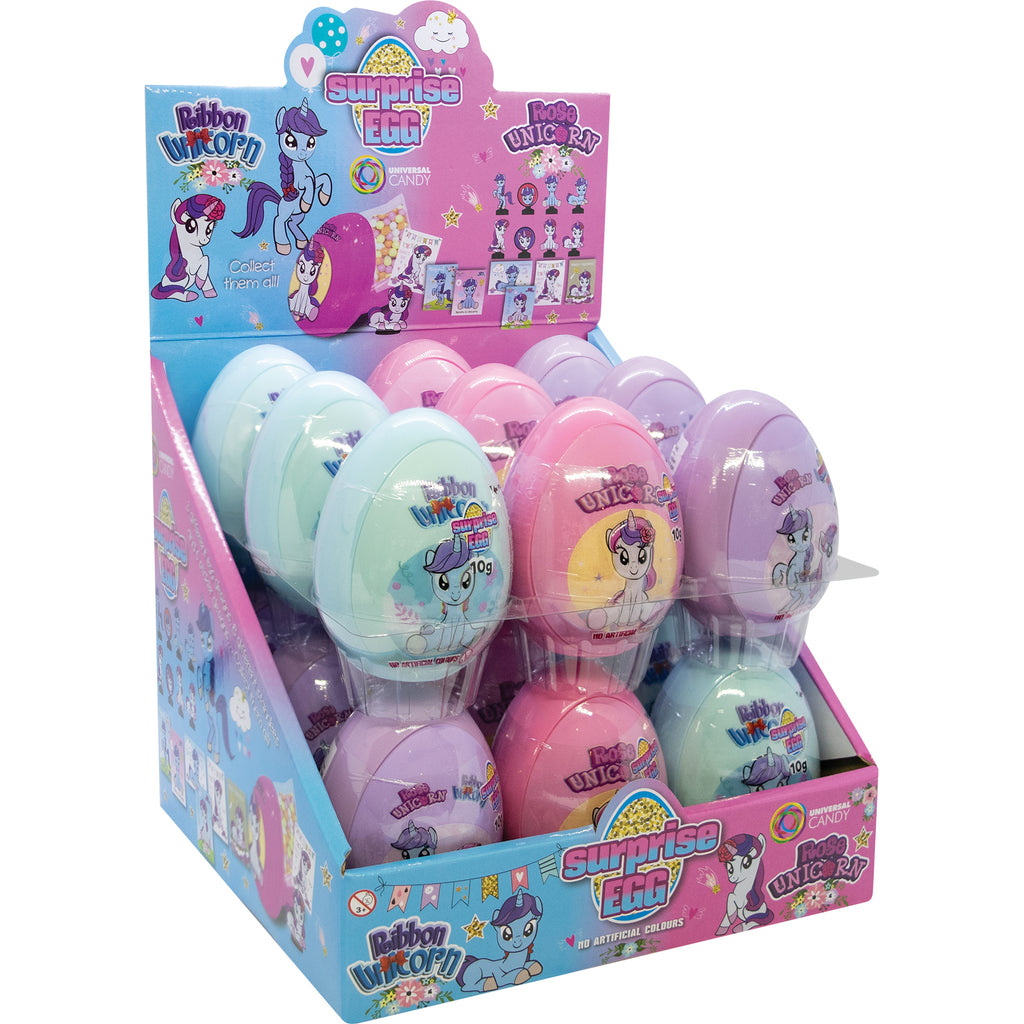 Unicorn Surprise Eggs 10g X 18 Eggs