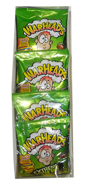 Warhead Extreme Sour Bags 28g x 12 Bags