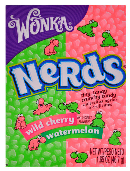 Wonka Nerds Wild Cherry & Watermelon 46.7g X 36 Units