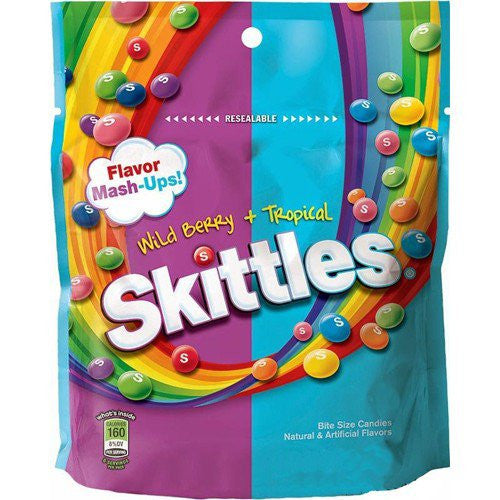 Skittles Wild Berry+ Tropical 204.1g X 12  Bags