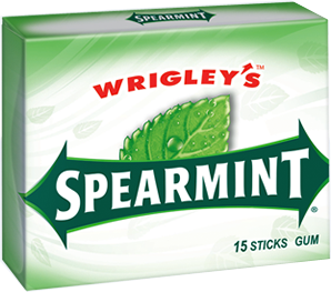 U.S Gum Wrigleys Spearmint 10 X 15 Sticks