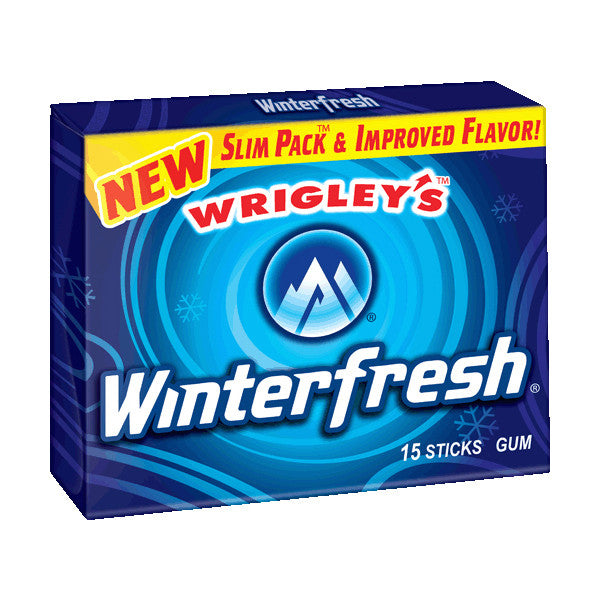 U.S Gum Wrigleys Winter Fresh 10 X 15 Sticks