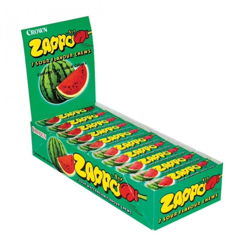 Zappo 7 Watermelon Chews 26g X 60 Units