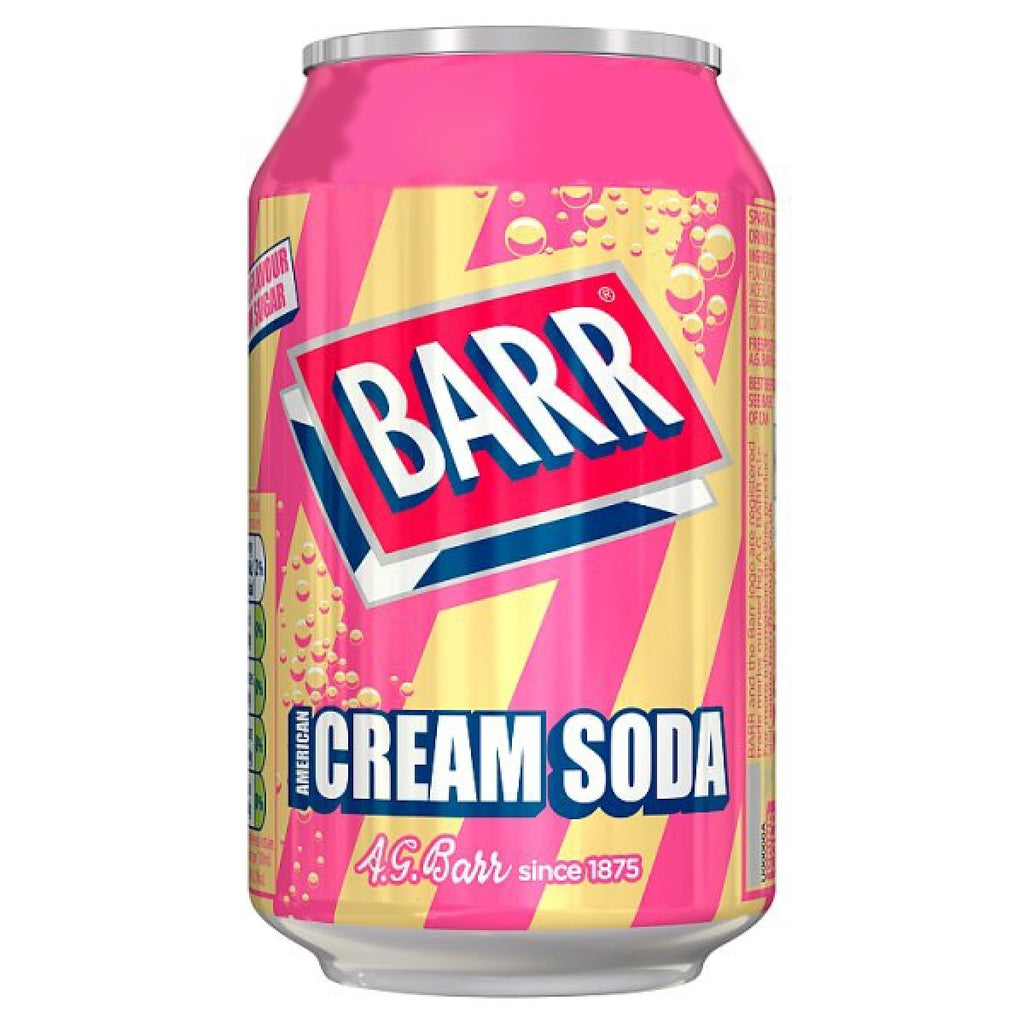 UK BARR Cream Soda 330ml X 24 Cans