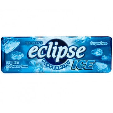 Eclipse Blue Peppermint Ice Gum 14g X 30 Sticks