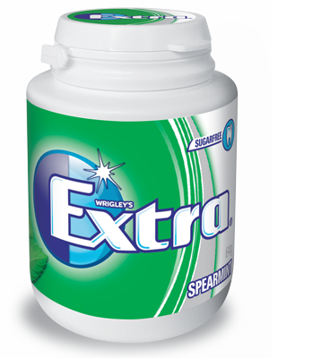 Extra Spearmint Gum 64g X 6 Bottles