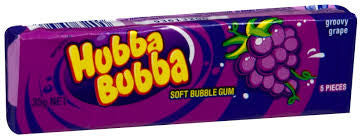 Hubba Bubba Grape Gum 20 X 5 Pieces