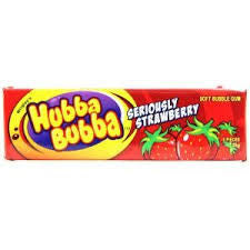 Hubba Bubba Strawberry Gums 20 X 5 Sticks