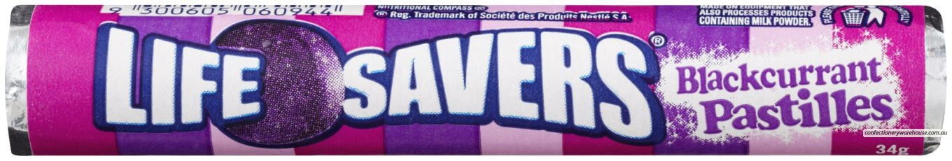Life Savers Blackcurrant 34g X 24 Units - Remas