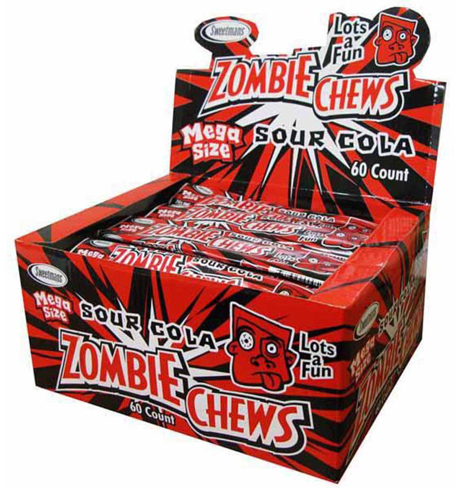 Zombie Chews Sour Cola 28g x 60 units