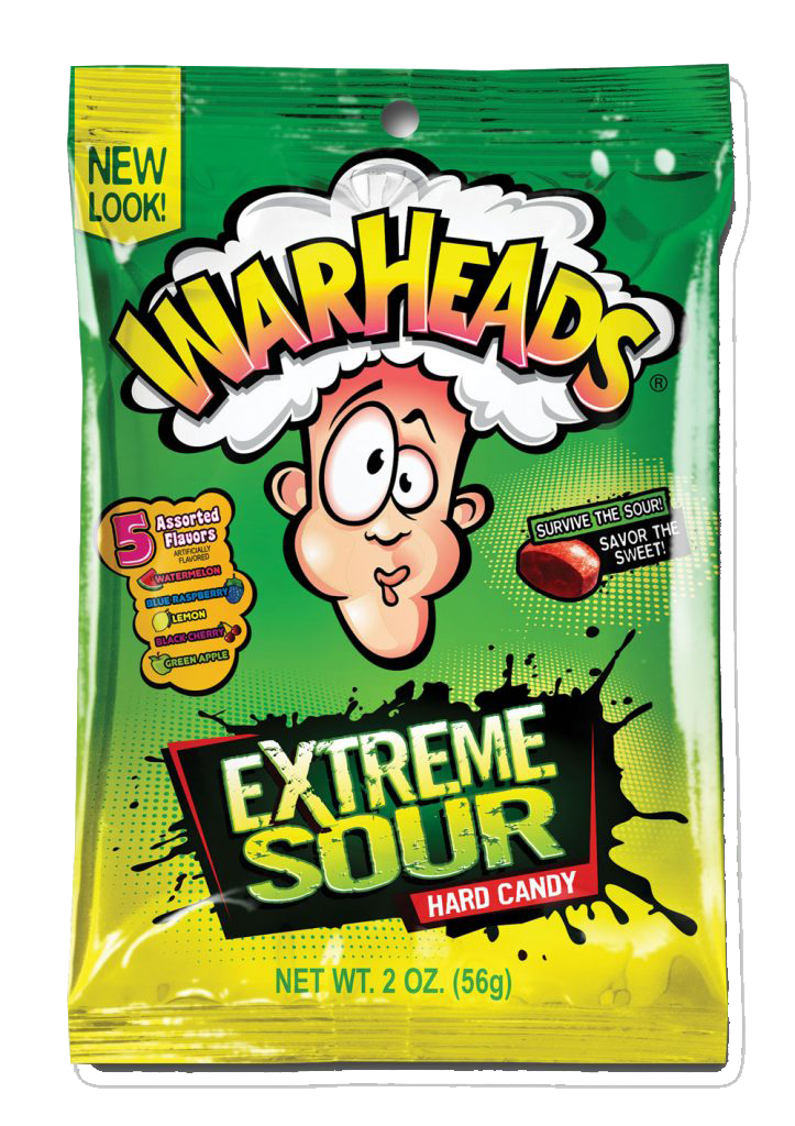 Warhead Extreme Sour Bags 56g x 12 Bags